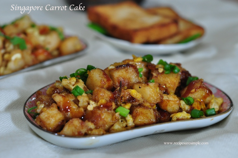 Singapore Carrot Cake | Fried Carrot Cake Recipe with Video