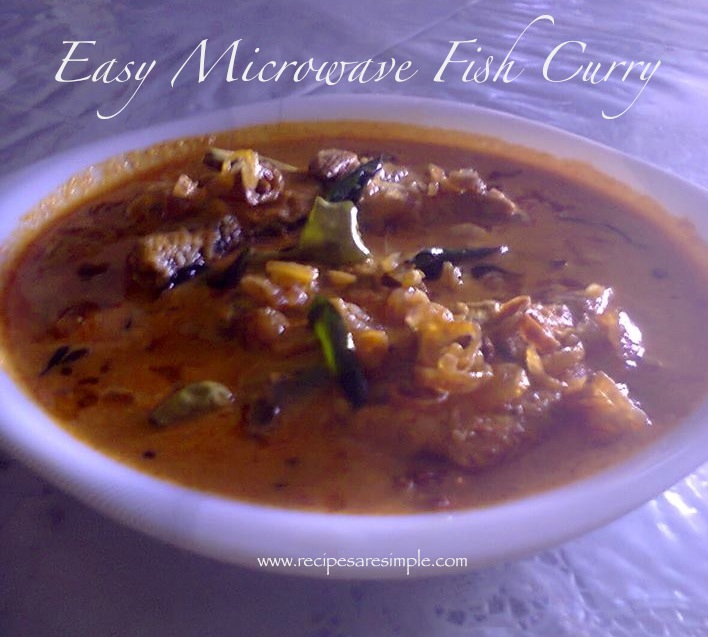 Microwave Fish Curry - Recipes are Simple