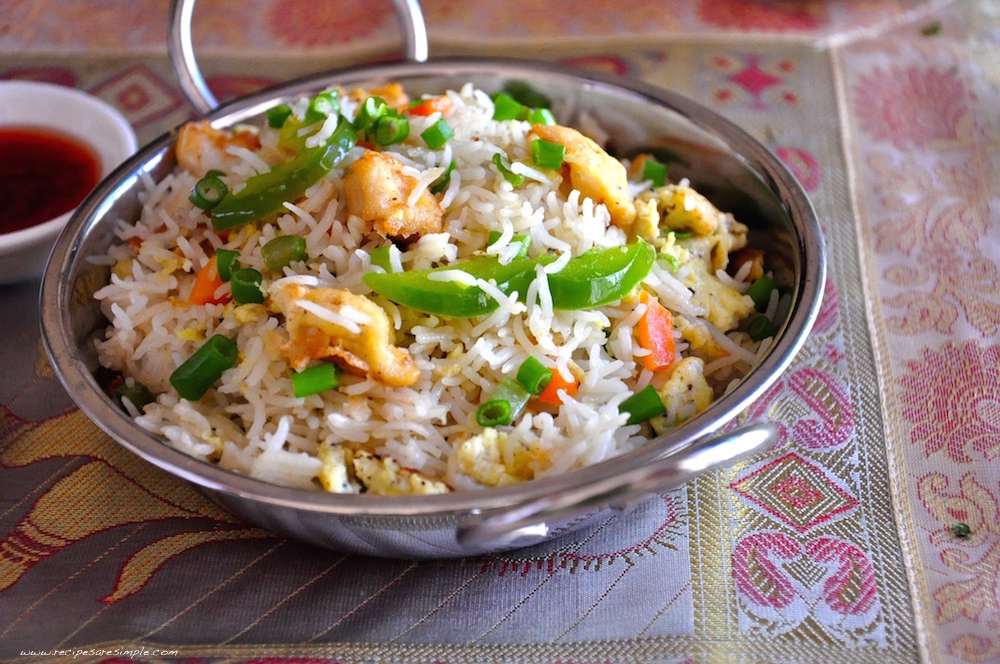 Indo Chinese Chicken Fried Rice | Restaurant Style ...