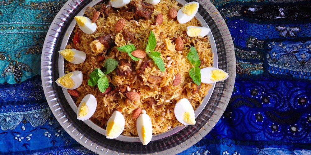 Mutton Kabsa Rice Authentic Saudi Arabian Cuisine